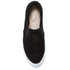 Clarks Women's Glove Puppet Suede Slip-On Trainers - Black: Image 5
