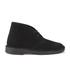 Clarks Originals Women's Suede Desert Boots - Black: Image 1