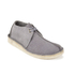 Clarks Originals Men's Desert Trek Leather Boots - Blue/Grey: Image 4