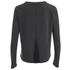 VILA Women's Central Long Sleeve Top - Dark Grey Melange: Image 2