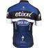 Etixx Quick-Step Short Sleeve Long Zip Jersey 2016 - Black/Blue: Image 2