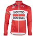 Lotto Soudal Long Sleeve Long Zip Jersey 2016 - Red/White: Image 1