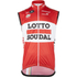 Lotto Soudal Kaos Gilet 2016 - Red/White: Image 1