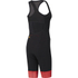 adidas Women's Adistar Bodysuit - Black/Red: Image 2