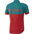 adidas Response Team Short Sleeve Jersey - Vivid Red/Green: Image 2