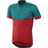 adidas Response Team Short Sleeve Jersey - Vivid Red/Green: Image 1