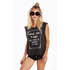 Wildfox Women's Cramped Wings Tank Top - Dirty Black: Image 2