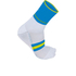 Sportful AC Vuelta 9 Socks - White/Blue/Yellow: Image 1