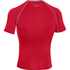 Under Armour Men's Armour HeatGear Short Sleeve Training T-Shirt - Red/Steel: Image 2