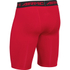 Under Armour Men's HeatGear Long Compression Shorts - Red/Black: Image 2