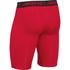 Under Armour Men's HeatGear Long Compression Shorts - Red/Black: Image 2