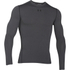 Under Armour Men's ColdGear Armour Compression Long Sleeve Crew Top - Dark Grey: Image 1