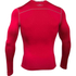 Under Armour Men's ColdGear Armour Compression Long Sleeve Crew Top - Red: Image 2