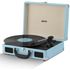 Akai Rechargeable Portable Briefcase Turntable with Built-In Speaker - Blue: Image 1