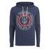 Smith & Jones Men's Pseudo Print Hoody - Navy Blazer Marl: Image 1