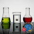 Lab Mini Science Flasks (Set of 3) (100ml): Image 2
