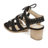 Dune Women's Ivanna Nubuck Strappy Heeled Sandals - Black: Image 4
