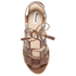 Dune Women's Ivanna Leather Strappy Heeled Sandals - Tan: Image 3