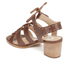 Dune Women's Ivanna Leather Strappy Heeled Sandals - Tan: Image 4