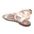 Dune Women S Lotti Leather Flat Sandals Rose Gold Womens