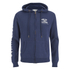 Soul Cal Men's Sleeve Print Logo Zip Through Hoody - Navy: Image 1