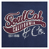 Soul Cal Men's Cracked Print Logo Hoody - Navy: Image 3