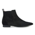 H Shoes by Hudson Women's Reine Pointed Suede Ankle Boots - Black: Image 1