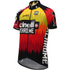 Santini Cinelli Chrome 16 Short Sleeve Jersey - Black/Orange: Image 1