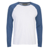 Brave Soul Men's Osbourne Raglan Long Sleeve Top - Optic White: Image 1