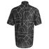 McQ Alexander McQueen Men's Short Sleeve Shields 01 Angle All Shirt - Black Angle: Image 2