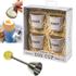 Eddingtons Breakfast Bundle - Cream Egg Buckets (Set of 4) and Egg Clacker: Image 1