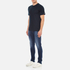Carhartt Men's Short Sleeve Base T-Shirt - Navy/White: Image 4