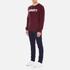 Carhartt Men's College Sweatshirt - Chianti/White: Image 4