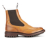 Tricker's Men's Henry Leather Commando Sole Chelsea Boots - Tan: Image 1