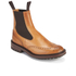 Tricker's Men's Henry Leather Commando Sole Chelsea Boots - Tan: Image 2