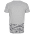 Threadbare Men's Pocket & Floral Hem T-Shirt - Grey: Image 2