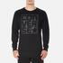 Converse Men's All Star Rubber Graphic Crew Neck Sweatshirt - Black: Image 1