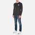 Converse Men's All Star Core Left Chest CP Long Sleeve T-Shirt - Black Heather: Image 4