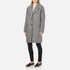 Carven Women's Oversized Two Buttoned Coat - White/Black: Image 2