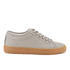ETQ. Men's Low Top 1 Rubberized Leather Trainers - Alloy/Gum: Image 1