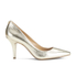 MICHAEL MICHAEL KORS Women's MK Flex Leather Court Shoes - Pale Gold: Image 1
