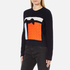 MSGM Women's Contrast Cable Knit and Frill Jumper - Multi: Image 2