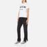 MSGM Women's Fringe Bottom Jeans - Black: Image 4