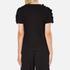 MSGM Women's Frill Sleeve T-Shirt - Black: Image 3