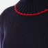 MSGM Women's Ruffle Rollneck Jumper - Navy: Image 5