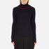 MSGM Women's Ruffle Rollneck Jumper - Navy: Image 1