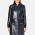 MSGM Women's Metallic Tweed Bomber Jacket - Blue: Image 1