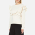 MSGM Women's Ripped Effect Frill Sweatshirt - Cream: Image 2