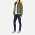 KENZO Women's Removable Yellow Fur Lined Short Parka - Dark Khaki: Image 4