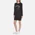 KENZO Women's Eye Sleeve Logo Sweatshirt Dress - Black: Image 2